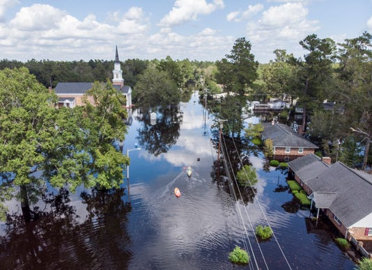 South Carolina city braces for post-Florence floods downtown