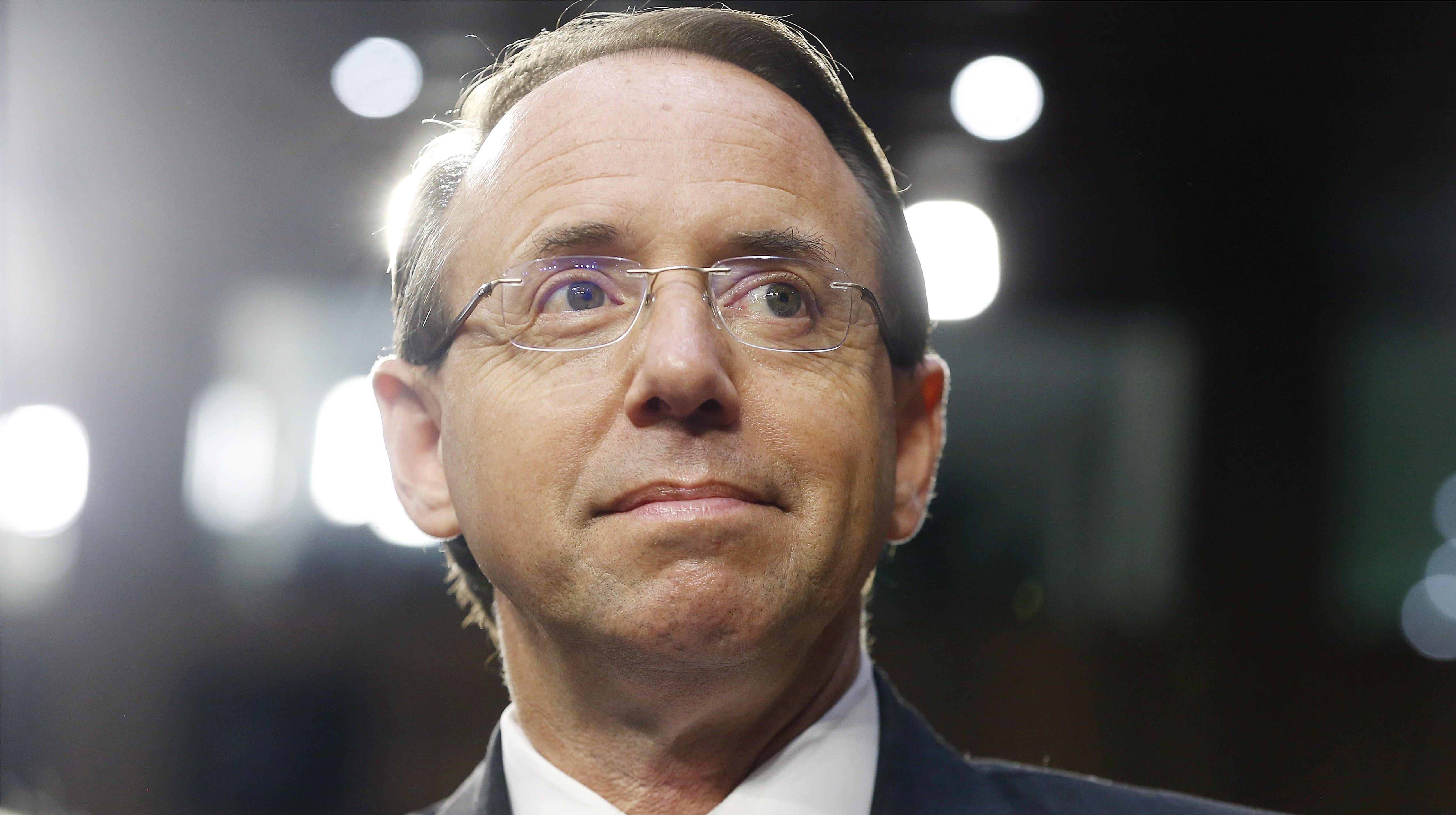 Deputy US Attorney General Rod Rosenstein