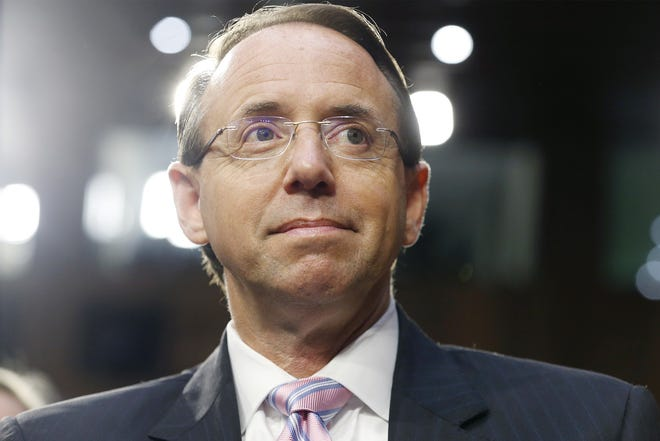 Deputy US Attorney General Rod Rosenstein