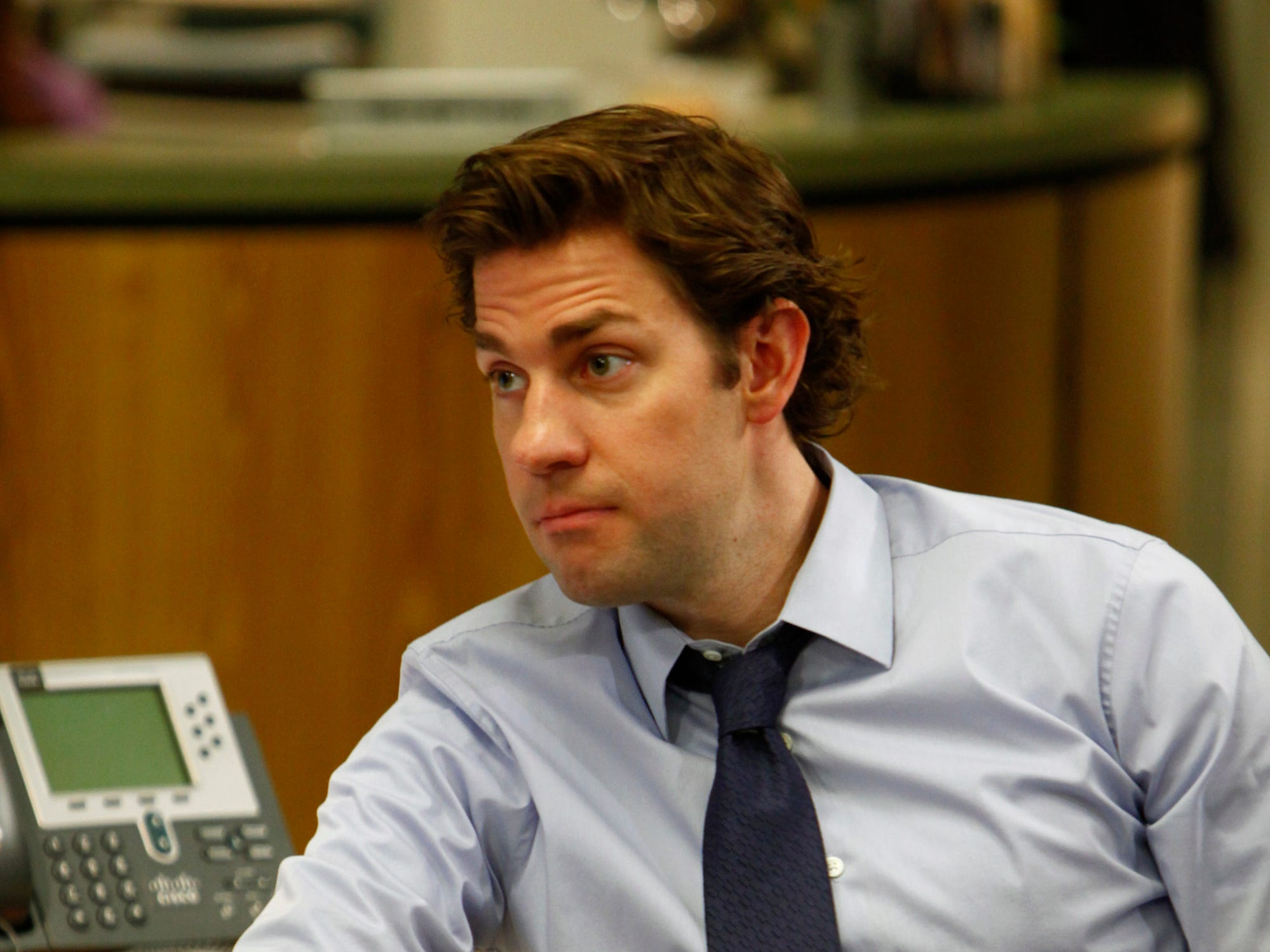 "ORG XMIT: Season:6 THE OFFICE -- ""Whistle Blower"" Episode 624 -- Pictured: John Krasinski as Jim Halpert -- Photo by: Trae Patton/NBC [Via MerlinFTP Drop]"