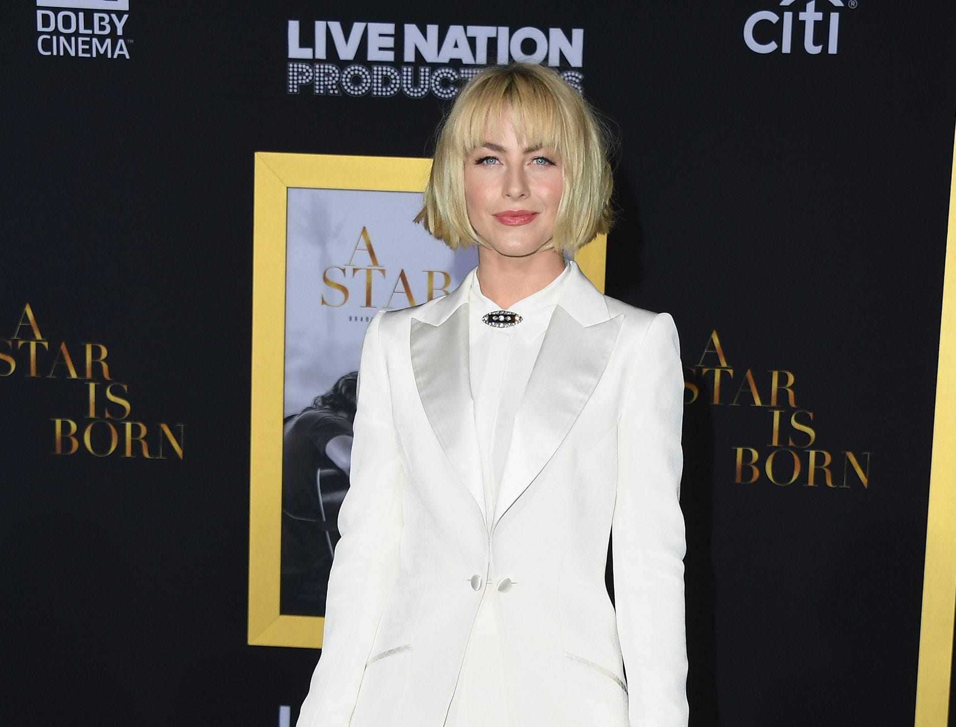 "LOS ANGELES, CA - SEPTEMBER 24:  Julianne Hough attends the premiere of Warner Bros. Pictures' ""A Star Is Born"" at The Shrine Auditorium on September 24, 2018 in Los Angeles, California.  (Photo by Jon Kopaloff/FilmMagic,) ORG XMIT: 775229470 ORIG FILE ID: 1039717820"