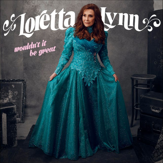 """The album cover of """"Wouldn't It Be Great"""" by Loretta Lynn."""