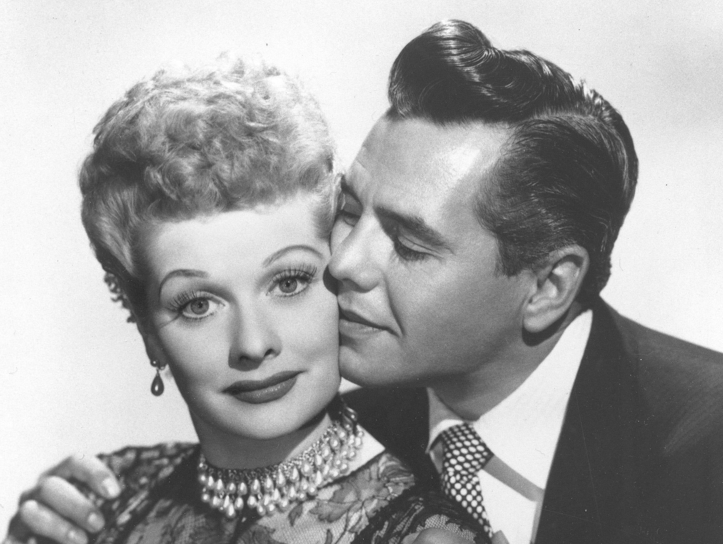 Comedian-actress Lucille Ball and her husband, musician-actor Desi Arnaz, are shown in this undated photo.   (AP Photo) ORG XMIT: APHS120 (Via MerlinFTP Drop)