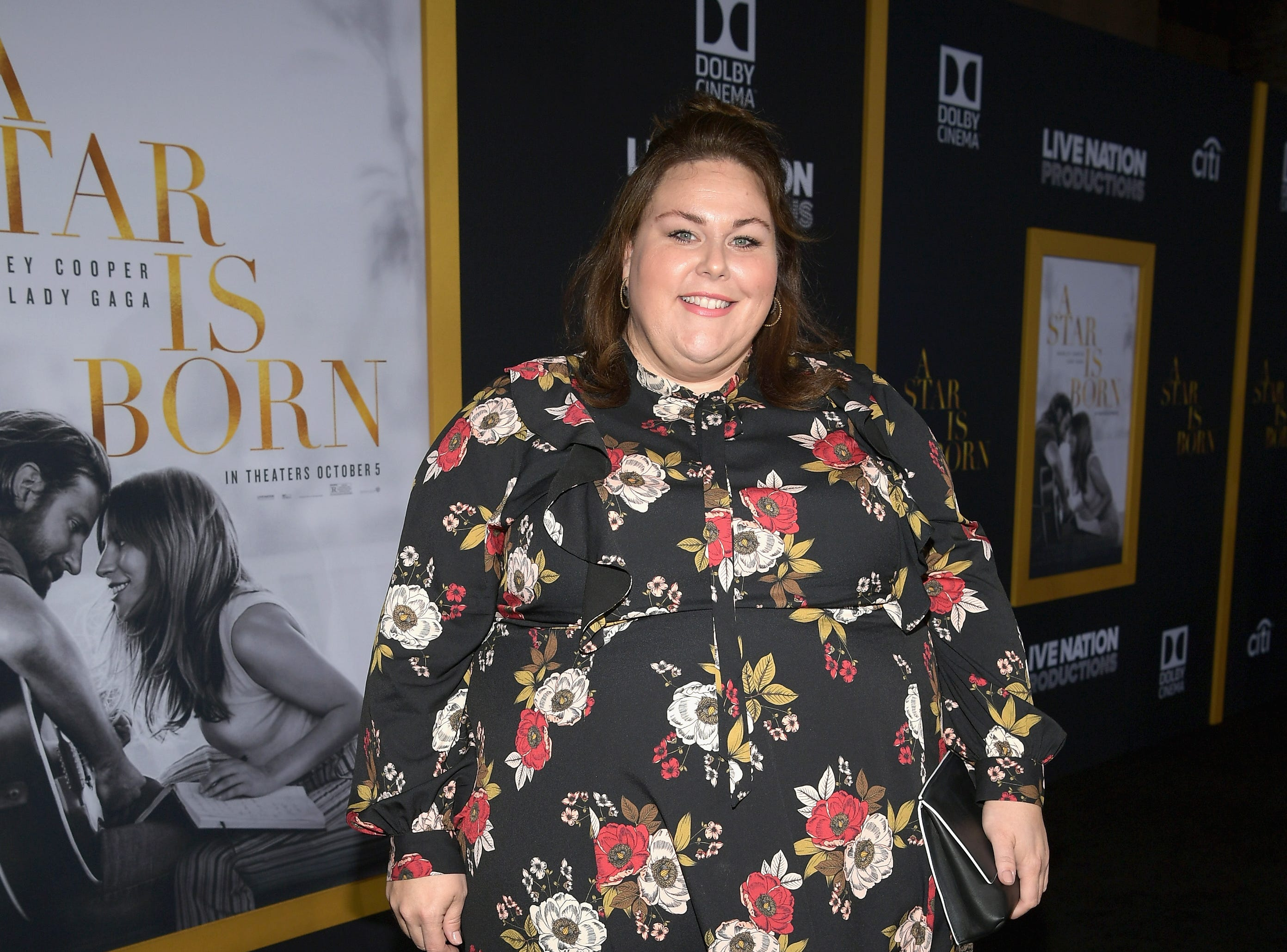 "LOS ANGELES, CA - SEPTEMBER 24:  Chrissy Metz arrives on the red carpet at the Premiere Of Warner Bros. Pictures' ""A Star Is Born"" at The Shrine Auditorium on September 24, 2018 in Los Angeles, California.  (Photo by Emma McIntyre/Getty Images) ORG XMIT: 775229471 ORIG FILE ID: 1039666228"