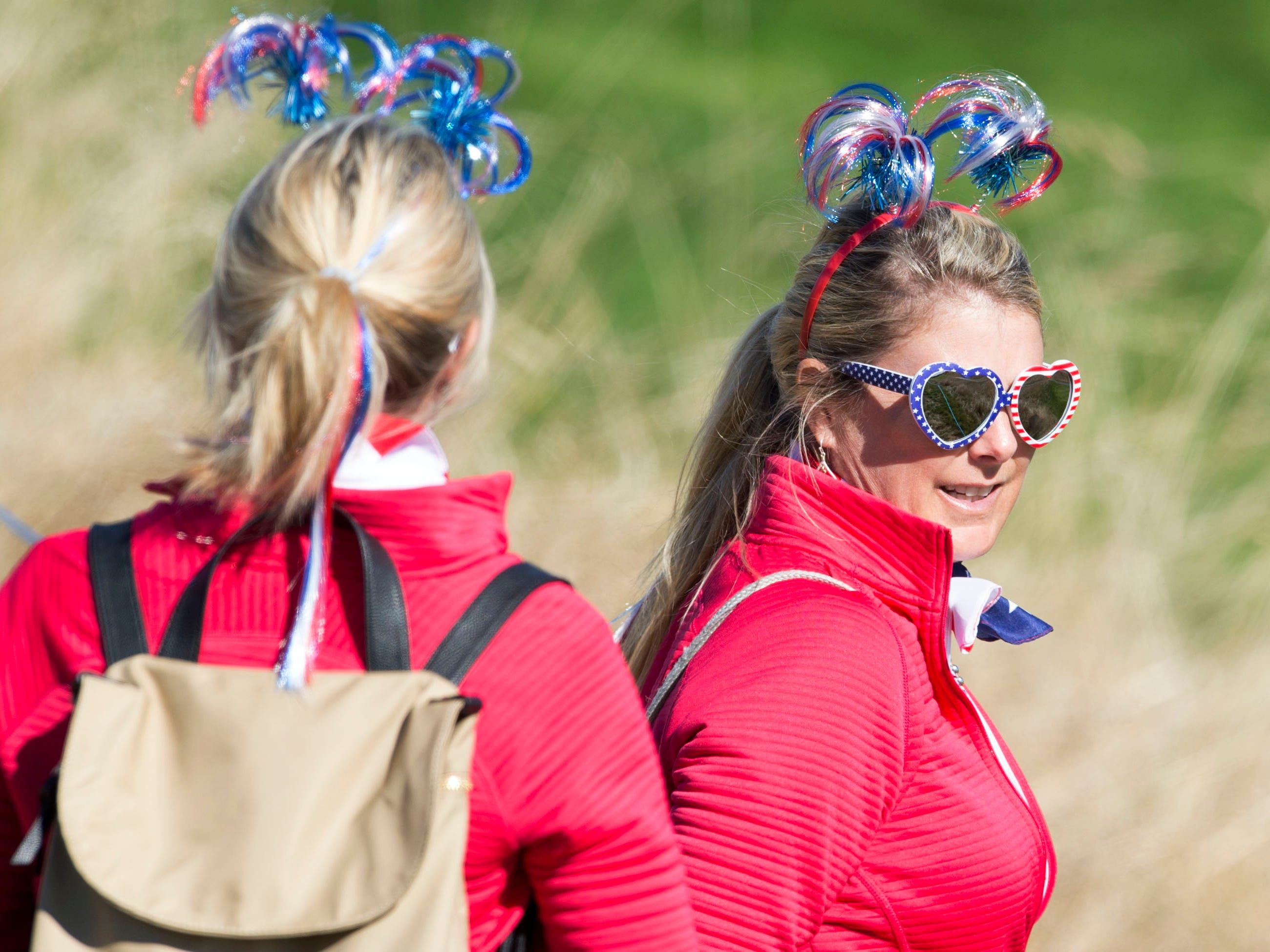 Golf fans during a Ryder Cup practice round.