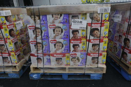 The Oshkosh Area Community Food Pantry received a donation of 50 pallets with 100,400 diapers on them from Gannett Co., and Kimberly Clark Corp. in Oshkosh on Sept. 24. The diaper were distributed to nine food pantries in the area.