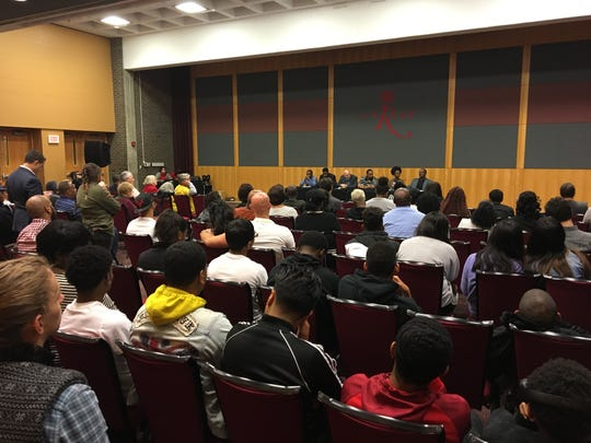 A big crowd at Rutgers turned out for the New Jersey Institute for Social Justice;s community forum on restoring the right to vote to people in prison, on parole, and on probation.