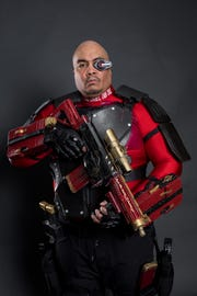 "Eric ""The Smoke"" Moran as DC Comics character Deadshot."