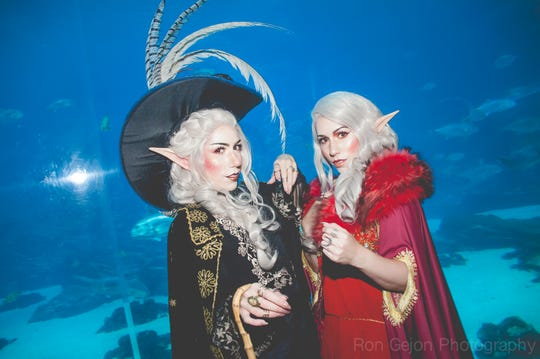 """Alexandra, left, and Juli Abene as Taako and Lup from """"The Adventure Zone."""""""