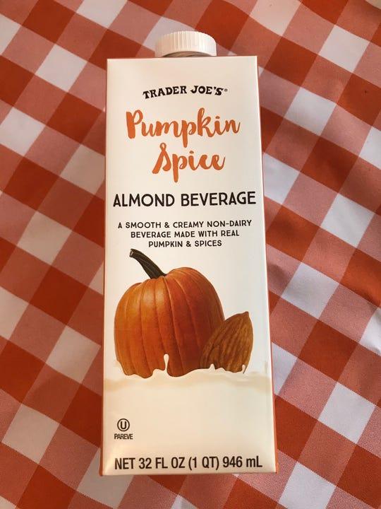 Pumpkin spice almond beverage from Trader Joe's.
