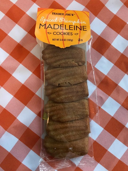 Pumpkin-flavored madelines from Trader Joe's.
