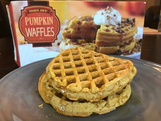 Pumpkin waffles from Trader Joe's.