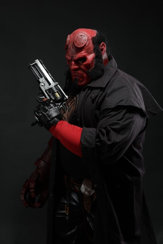 "Eric ""The Smoke"" Moran as Hellboy."