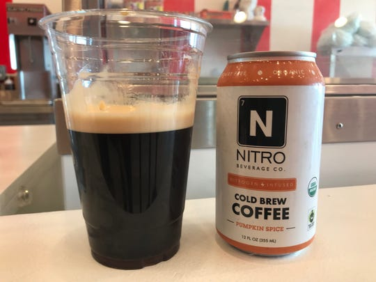 Pumpkin spice cold brew coffee from Nitro Beverage Co. in Asbury Park.