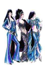 "A Bob Mackie sketch for ""The Cher Show."""