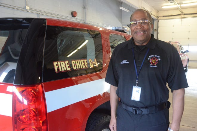 Battle Creek Fire Chief Brian Sturdivant is beginning his duties this week.