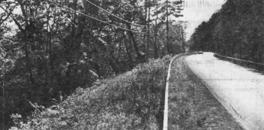 The curve west of Owego along Route 17C, known as Devil's Elbow, published Oct. 25, 1981 in the Binghamton Sunday Press.