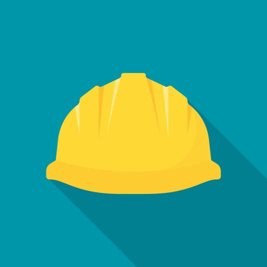 Construction Helmet Yellow Safety Hat