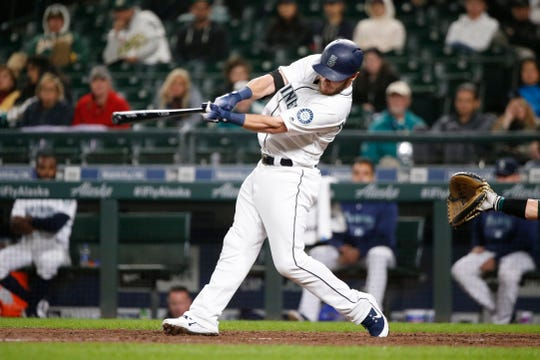Chris Herrmann hit a two-run home run in the 11th inning Tuesday to beat the Oakland Athletics, 10-8.