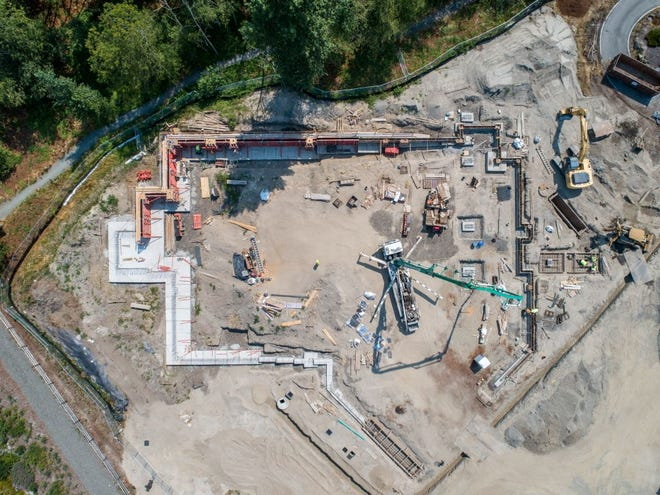 Overview of construction for the future VA Puget Sound community-based outpatient clinic in Silverdale.
