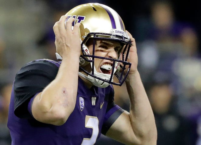 To seal Washington's 27-20 victory over Arizona State on Saturday, Huskies quarterback Jake Browning ran around in the backfield just long enough on a third-down play to assure that a punt wasn't necessary.