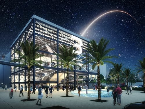 Artists' rendering of the Terminal 3 which will be used by Carnival Cruise Line, and will be the home to a new Carnival ship that will enter service in 2020