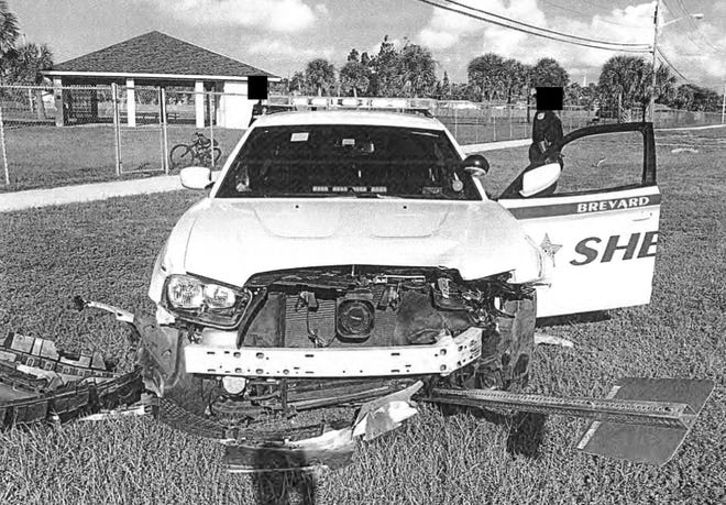A Brevard County deputy crashed his squad car into a parked, unoccupied Melbourne Beach Police Department squad car.