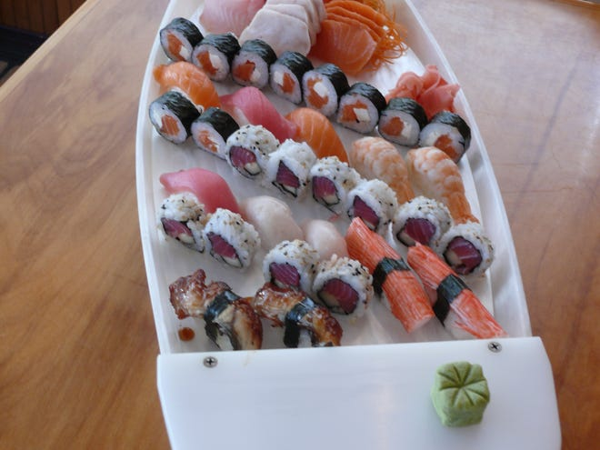 Nippon Thai in Satellite Beach sells sushi by the boatload.