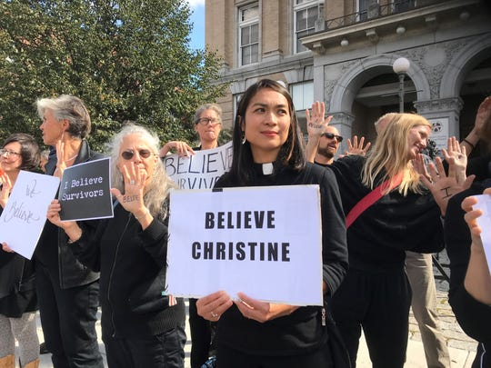 Joan Javier-Duval, a Unitarian minister, plans to make herself available to anybody who is struggling with trauma brought up by the Kavanaugh hearings on Thursday, Sept 27 2018
