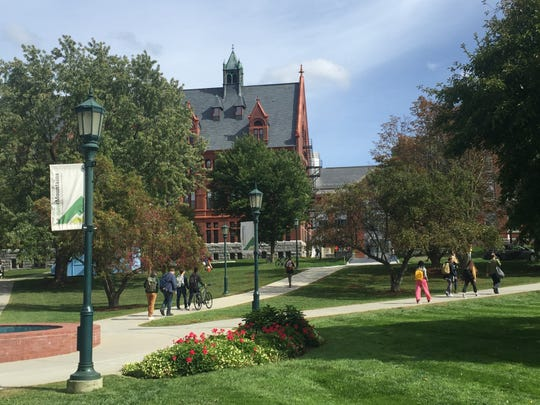 University of Vermont campus shows off on a bright day in September as testimony continued for Supreme Court nominee Brett Kavanaugh.