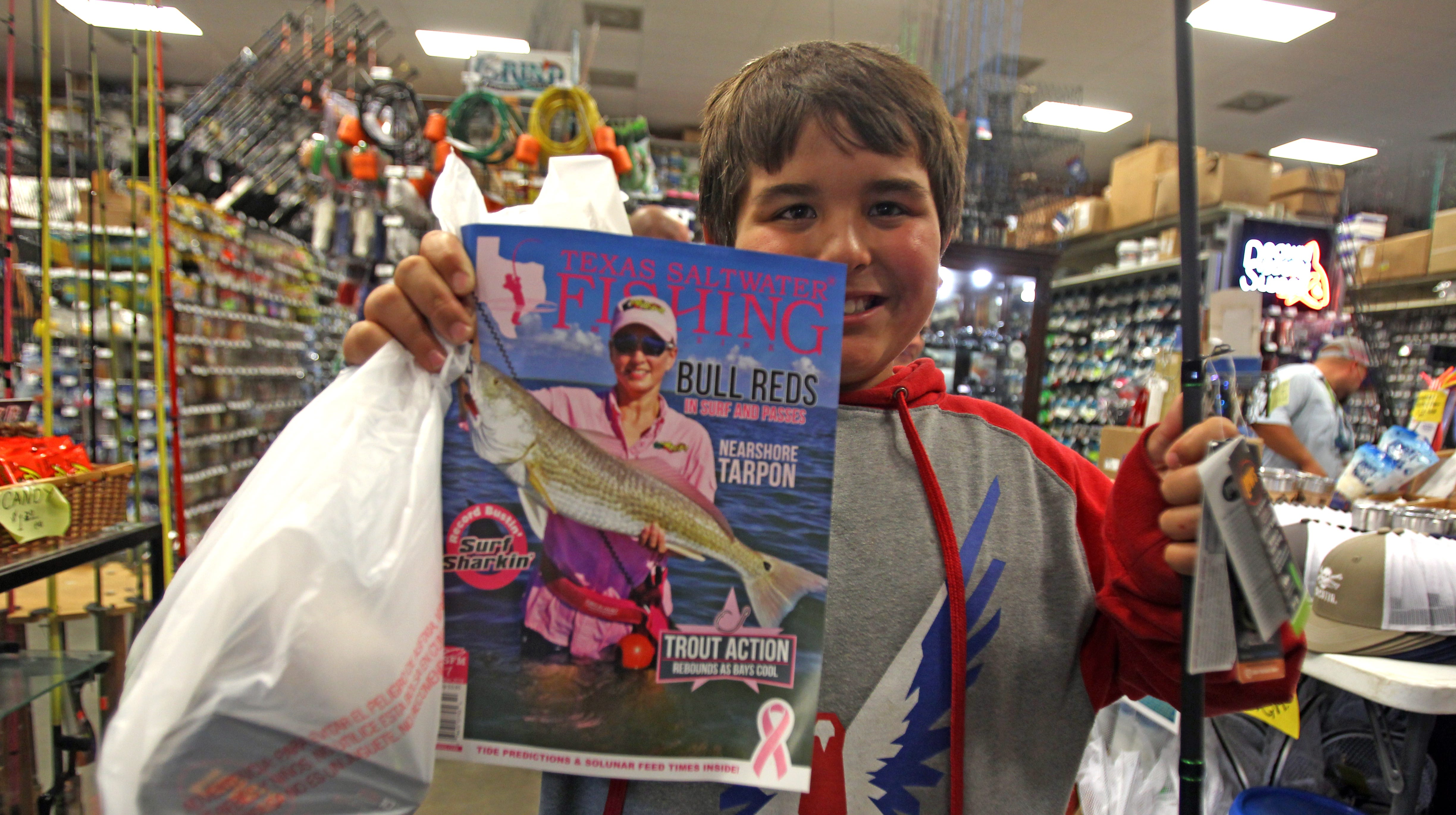 A thief stole this boy's tackle box. What South Texans did next will make you smile.