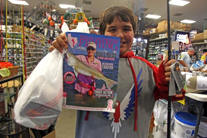 Jacob received $200 in store credit at Roy's Bait & Tackle Outfitters from Everett Johnson, publisher of Texas Saltwater Fishing Magazine.