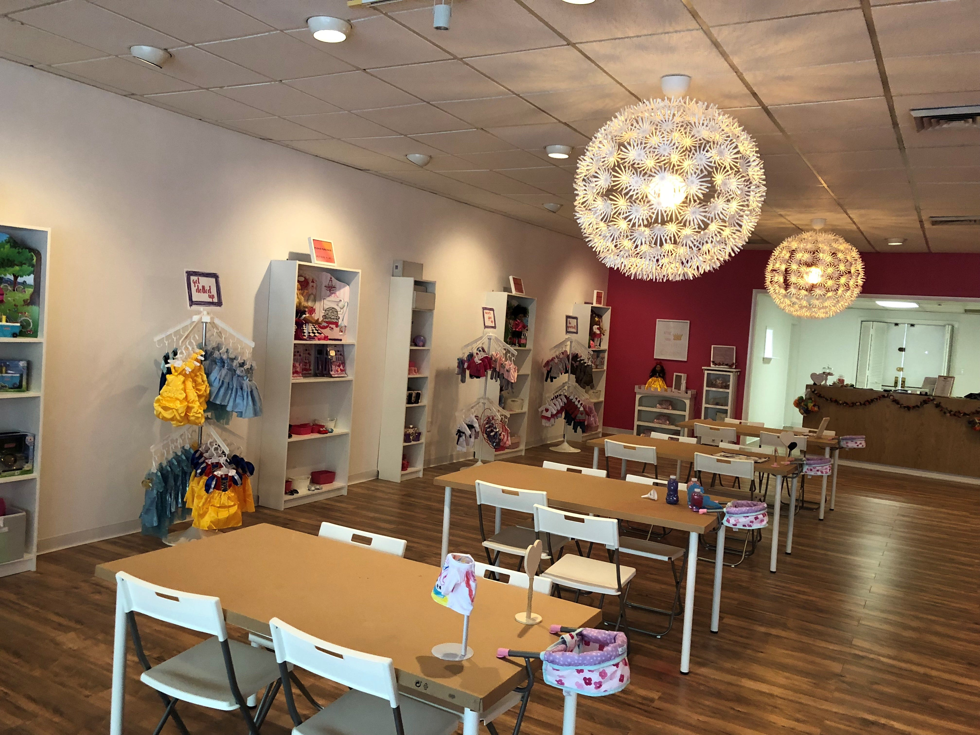 Stella & Toni features a large shopping and activity area, as well as a party room in the back of the store.