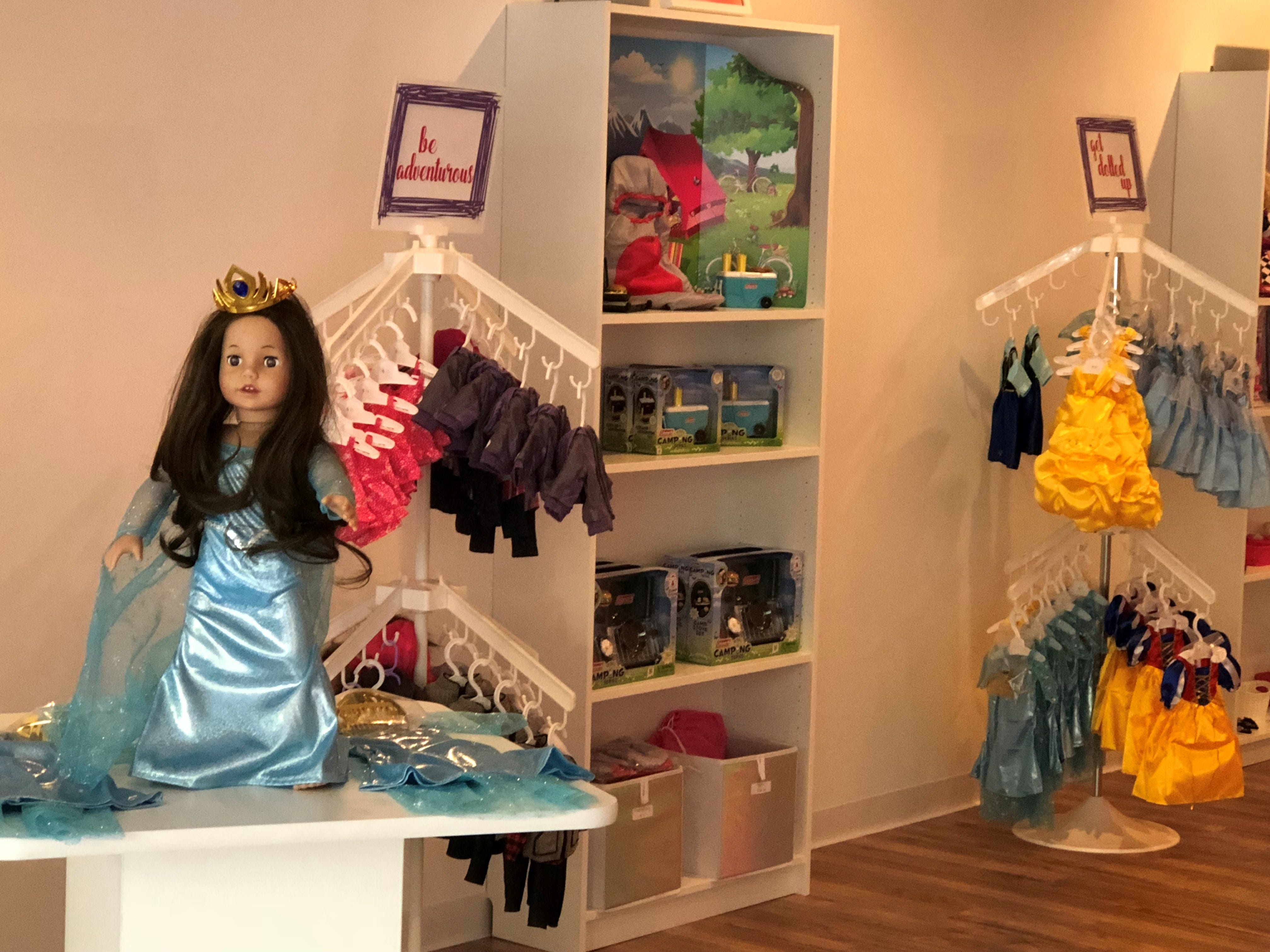 Dolls, clothing and accessories are sold at Stella & Toni in Haddonfield. Owner Melissa Fiorentino says the store aims to offer 'a perfect doll experience.'