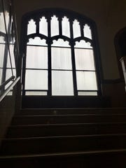 Stained glass windows that once adorned the former Mercy High School in Westwood were removed. One of the first steps in the building's transformation into the Westwood campus for Cincinnati Public Schools.