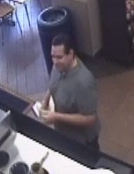 Cincinnati Police are attempting to ID a subject who is wanted for thefts Downtown.