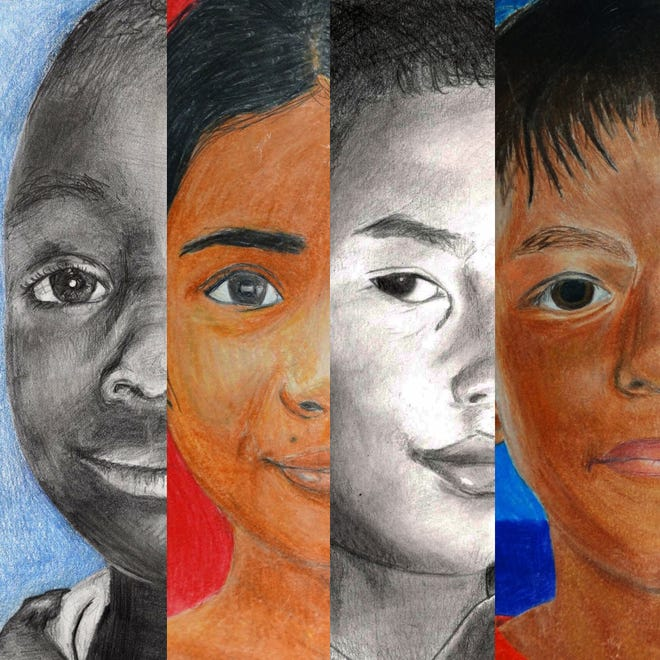 Students at Oak Hills High School will create 12 portraits for children in Puerto Rico and Colombia.
