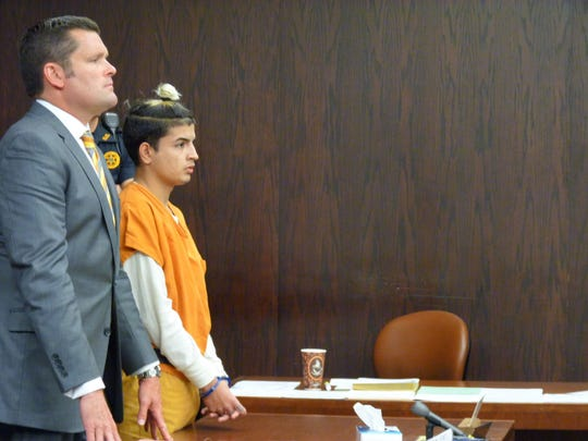 David Villegas, 22, known as Skinnyfromthe9, appeared in court on Thursday in Somerville with his attorney, Christopher Adams, left, to accept a plea agreement amending his original kidnapping and aggravated assault charges to lesser offenses.
