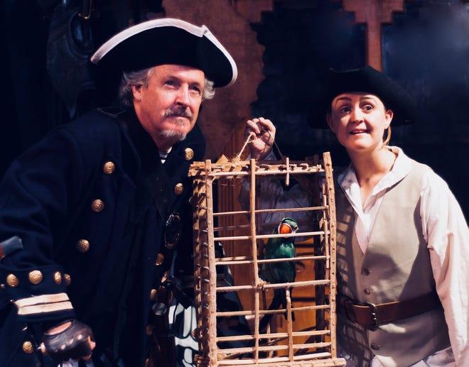 Bill Ward of Basking Ridge as Long John Silver and Kacey Hunt of North Plainfield as Jim Hawkins.