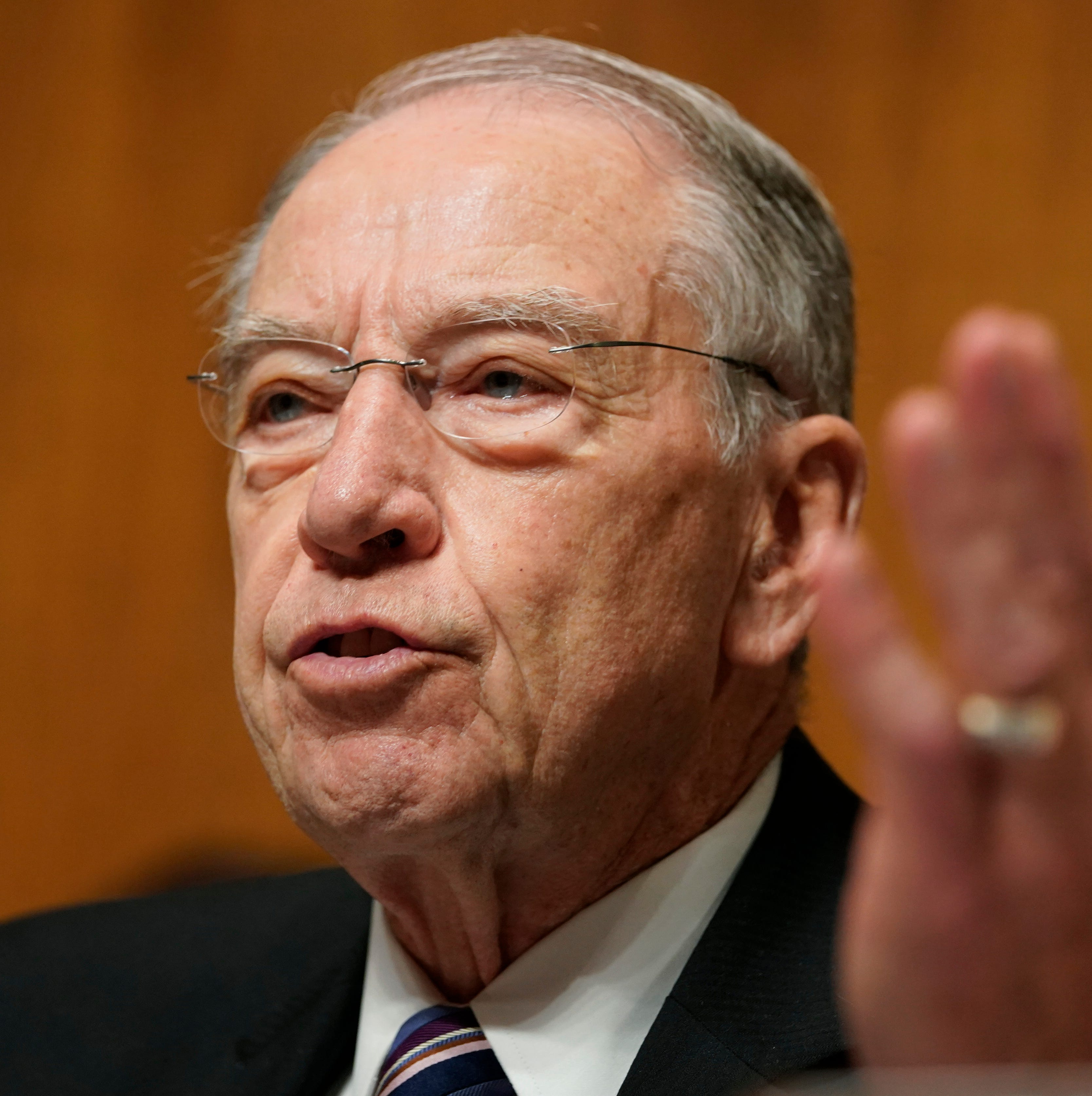 Sen. Chuck Grassley, R-Iowa, speaks during a hearing with Christine Blasey Ford at the Senate Judiciary Committee on Capitol Hill in Washington, Thursday, Sept. 27, 2018.