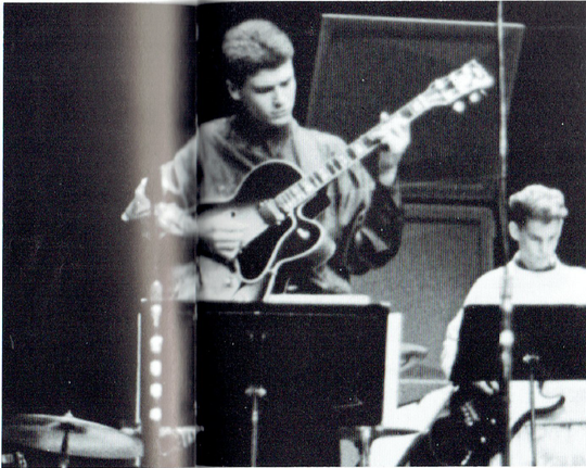 Dave Keuning, pictured as a sophomore at Pella High School, played guitar in jazz band.