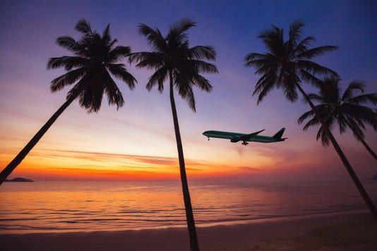 Flight To Exotic Travel Destination