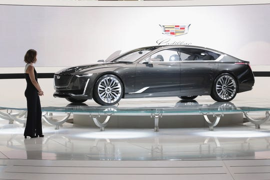 Cadillac shows off the Escala concept car at the Chicago Auto Show in February 2018 in Chicago.