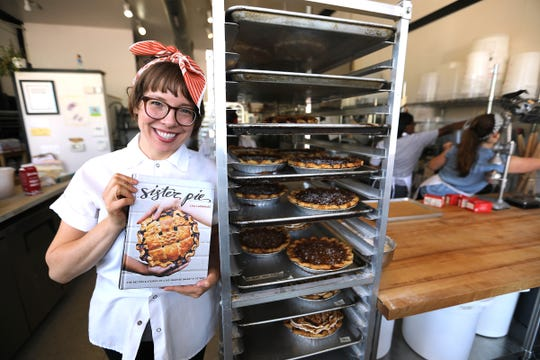 Lisa Ludwinski, owner of Sister Pie bakery in the West Village neighborhood of Detroit, poses for a photo in September 2018. Ludwinski, who started out of her parents' kitchen, released a nationally renowned cookbook and was twice a semifinalist for Outstanding Baker at the James Beard Awards.