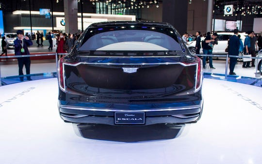 The Cadillac Escala is on display during the 17th Shanghai International Automobile Industry Exhibition in Shanghai in April 2017.