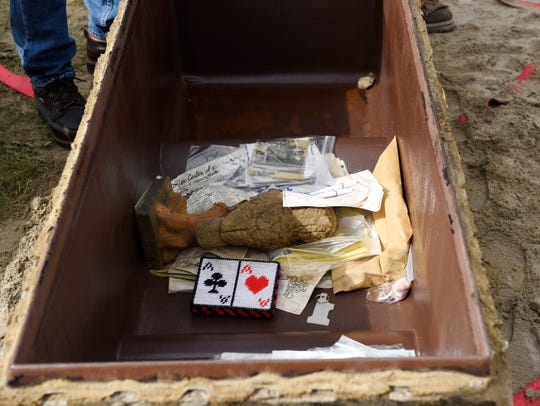 Items that were stored in the time capsule.