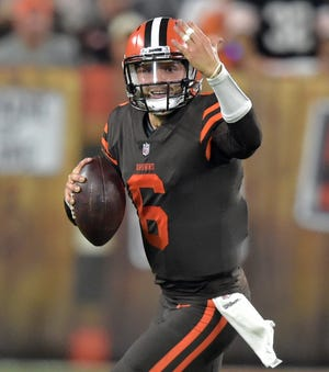 As Baker Mayfield prepares to make his first pro start in a few days at Oakland, his confidence isn't the only thing impressing teammates.