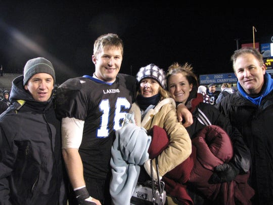 Cullen Finnerty with brother Tim, mother Maureen, sister Courtney and father Tim.