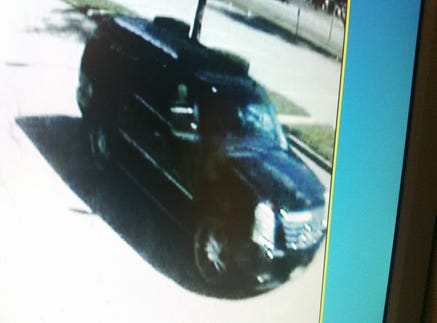 Livonia police are searching for a suspect who asked a Clarenceville High School student Wednesday to get into this vehicle.