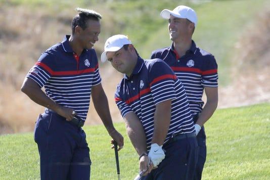 Tiger Woods Patrick Reeds Jordan Spieth
